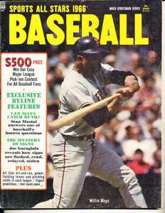 1966 Sports All Stars Baseball Willie Mays bbmag7