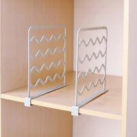 Closet Shelf Dividers Wardrobe Shelves Divider Storage Organizer Clapboard Rack~