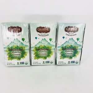 3 Pack- Celestial Seasonings Teahouse Organic Matcha Green Tea BB- 5/9/21