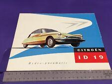 Citroen iD 19 Brochure 1957 - Rare UK Issue 2/1957