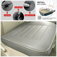 Gray PU Leather Car Front Seat Cover Protection Cushion Breathable Comfortable