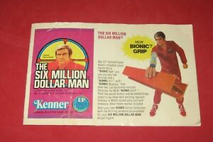 Kenner 1977 Six Million Dollar Man Bionic Woman Product Catalog Brochure  CB