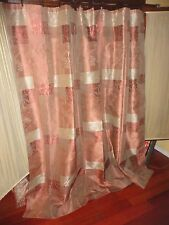 S. LICHTENBERG TUSCAN COPPER CINNAMON PLATINUM TERRACOTTA SHOWER CURTAIN 70 X 70