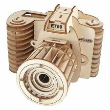 57 Pieces Camera Model Kit - Wooden Laser-Cut 3D Puzzle