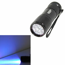 Professional 365 nM 9 UV LED Ultraviolet Leak Detection Flashlight / Blacklight