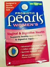Probiotic Pearls Women's 30 Softgels Exp 03/2021 Vaginal & Digestive
