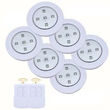 6PC LED SMD Light Wireless Remote Control Battery Operated