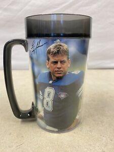 NFL Football Troy Aikman 24 oz Cup/mug Thermoserv Dallas Cowboys