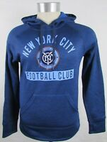 NYC Football Club MLS Adidas Men's Blue Hooded Sweatshirt