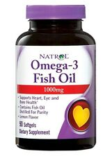 Natrol Omega 3 Fish Oil 1000mg Dietary Supplement 90 Softgels