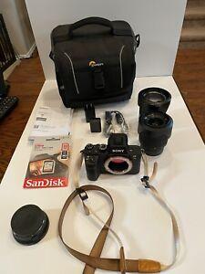 Sony Alpha a7 II with 24-70mm, 28-70mm, Canon Adapter, Two Batteries.