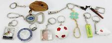 Lot of 11 Vintage-German-Key Chain Holders-Mercedes/Disney/Wrigley's/Whistle +