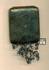 CR. BT. Sterling Coin+Bill Wallet 1887 Birmingham Sterling Hallmark wt. 89.9gm