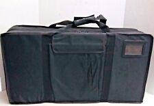 "New,  Large Black Sample Case 27""x14""x7"", Outer Storage Pocket, Center Storage."