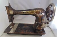 Antique Singer Sewing Machine Sphinx Decal 1900 Model 27 Treadle Head Parts Only