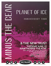 MINUS THE BEAR/THE NEW TRUST 2018 PORTLAND CONCERT TOUR POSTER-Indie / Math Rock