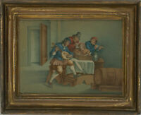 Framed Early 20th Century Watercolour - Flemish Musicians