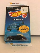 #7 Mercedes 540K 5142 * Black * 1988 Malaysia * Vintage Hot Wheels * A17