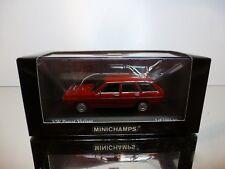 MINICHAMPS 54210 VW VOLKSWAGEN PASSAT VARIANT 1976 - RED 1:43 - EXCELLENT IN BOX