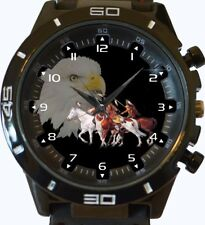 Eagle Red Indian Clan Warriors New Gt Series Sports Unisex Watch