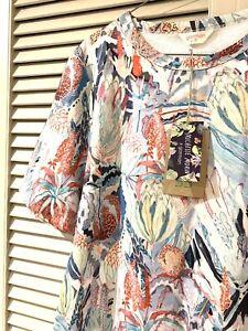 "New! Very Cute GORMAN ""Banksia"" Swing Cotton Dress -  size 12"