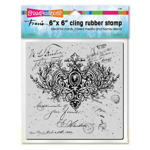 Ornate Scroll 6x6 Inch Decor Unmounted Cling Rubber Stamp Stampendous 6CR006 NEW