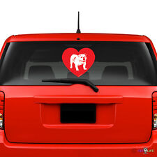 Love English Bulldog Windshield Sticker Vinyl Auto Window british