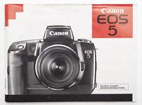 Bedienungsanleitung Canon EOS 5 EOS-5 eos5 Anleitung