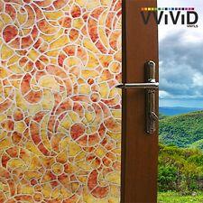 "VViViD Privacy Window Glass Film 36"" x 24"" Fall Mosaic Home Decor DIY Removable"