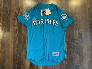 NWT Authentic Majestic Flex Base EDGAR MARTINEZ #11 Seattle Mariners Jersey 44 L