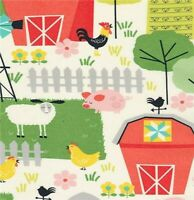 ON THE FARM Cotton Print by TIMELESS TREASURES  BTY