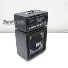 Miniature Guitar Bass Amplifier Marshall Black Amp Replica for Display Only