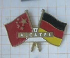 CHINA DEUTSCHAND FAHNEN ALCATEL / TELEKOMMUNIKATION .......Handy Pin (229h)