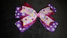 HAND MADE HAIR RIBBON  BOW  / MOÑO PARA NIÑA HECHO A MANO EN CINTAS DECORATIVAS.