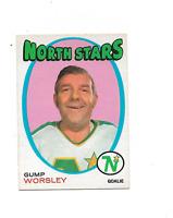 1971-72 O-Pee-Chee #241 Gump Worsley Minnesota North Stars