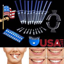 Home Dental Teeth Whitening LED Blue Light Bleaching System Oral Gel Kit White