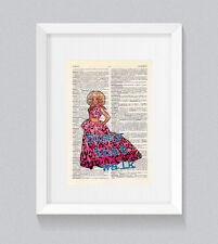 RuPaul Sissy che cammina Libro Vintage Dizionario Stampa Wall Art