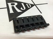 "Hard Tail Fixed Guitar Bridge Black Stainless Steel 2-1/8"""