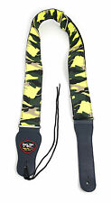 Yellow Rave Camo Guitar Strap For Any Acoustic Electric Bass Classical