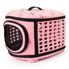 Portable Pet Dog Cat Sided Carrier Travel Tote Shoulder Bag Foldable Cage Kennel