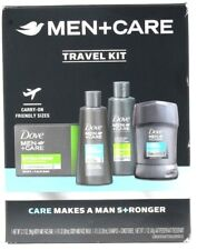 Dove Men+Care Carry On Friendly Travel Kit Soap Bar Shamp Cond Face Bd Wash Deod