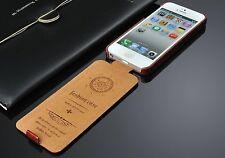 Apple iPhone 8 Farbe Braun Etui Hülle Tasche Leder Klapp Case Flip Luxus  🇩🇪