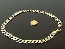 "Chunky gangster chain 21"" men's silver and gold alloy necklace"
