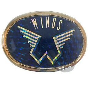 1977 Pacifica Wings Band Reflective Paul McCartney Belt Buckle Very Good