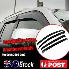 For Volkswagen VW Golf MK6 09-12 Window Visors Weather Shield Car Weathershield