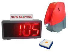 Pro-Lite LED Take a Number Ticket Counter Dispenser and Display