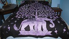 New Tie Dye Double Bedspread Throw - Hippy Fairly Traded India Elephant Tree