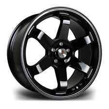 "18"" STUTTGART ST16 ALLOY WHEELS FITS CITREON PEUGEOT 4X108 BLACK"