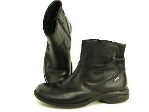 Merrell Captiva Mid Waterproof Ankle Boots Womens 9.5 Black Nubuck Side Zip