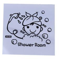 Creative Cartoon Girl Shower Room Bathroom Wall Stickers Decal Decor LD